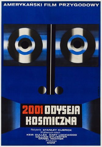 2001 A Space Odyssey 1973 Polish film poster