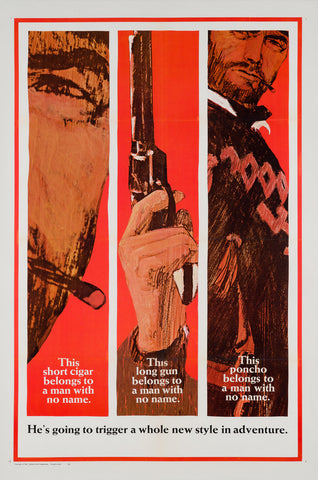 A Fistful of Dollars 1967 US 1 Sheet Advance Style B film poster