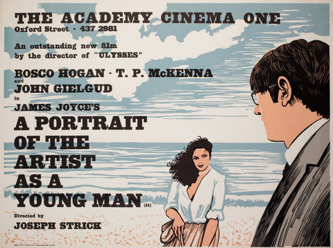 A Portrait of the Artist as a Young Man 1977 Academy Cinema UK Quad Film Poster, Strausfeld
