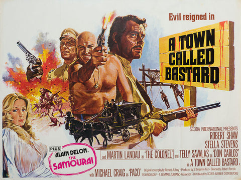 A Town Called Bastard 1971 original vintage UK quad film movie poster