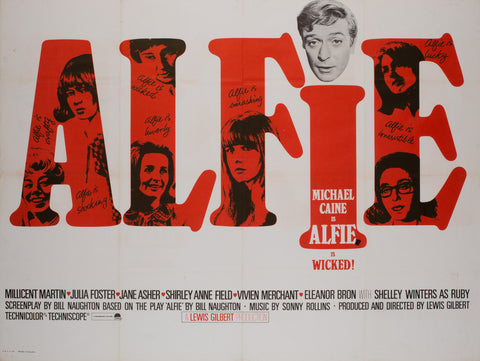 Alfie 1966 UK Quad Film Poster