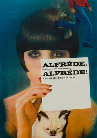 Alfredo, Alfredo! 1974 original vintage Czech A3 film movie poster