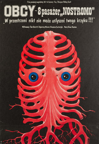 Alien 1980 original Polish film movie poster