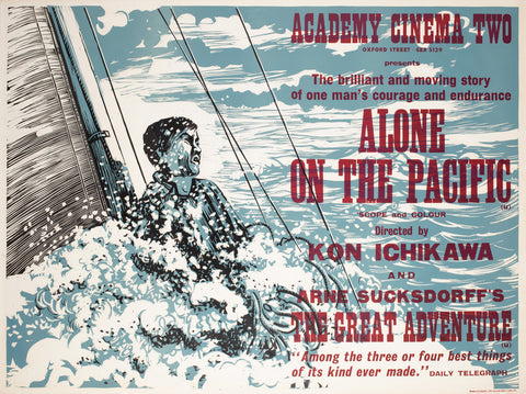 Alone on the Pacific 1967 Academy Cinema UK Quad Film Poster, Strausfeld
