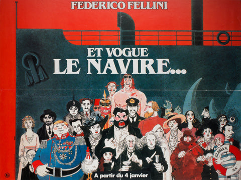 And The Ship Sails On 1983 French Moyenne Film Poster, Tardi