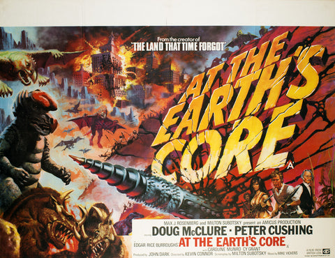 At The Earths Core 1976 Original UK Quad film movie poster