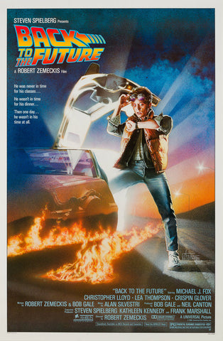 Original 1985 Back to the Future US 1 Sheet film movie poster