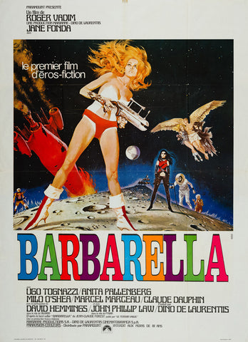 Barbarella 1968 original French film movie poster