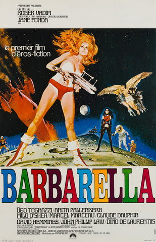 Original 1968 Barbarella French Petite film movie poster