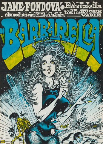 Barbarella original 1971 Czech film movie poster