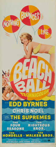 Beach Ball 1965 original vintage US insert film movie poster