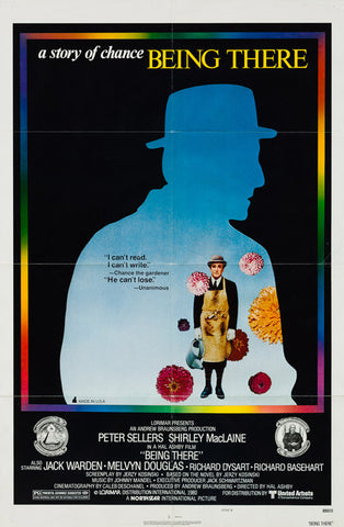 Being There 1979 Original vintage US 1 sheet style B film movie poster Peter Sellers
