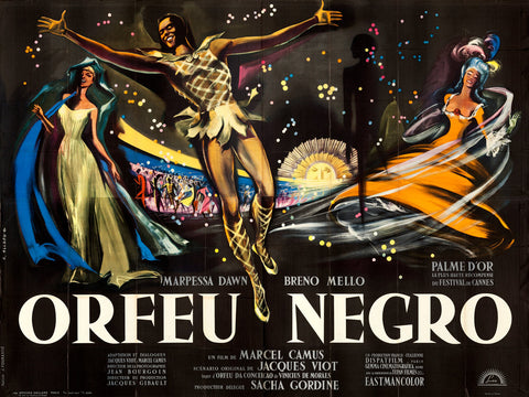 Original 1959 Black Orpheus French 4 sheet Film Movie Poster
