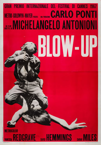 Original Blow-up 1967 Italian 4 Folgio Film Movie Poster