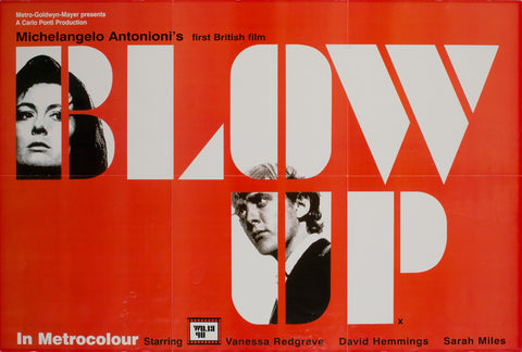 Blow-up 1967 UK Special Promotional Film Poster