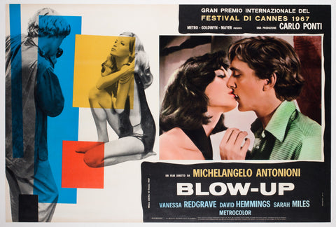 Blow-up 1966 Italian Photobusta Film Poster