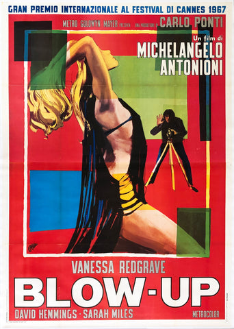 Blow-up 1967 Italian 4 Foglio Film Movie Poster, Brini