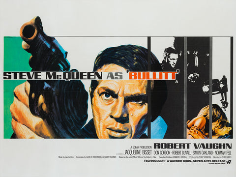 Bullitt 1968 UK Quad Film Poster, Chantrell