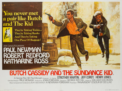 Butch Cassidy and the Sundance Kid Original UK Quad film movie poster