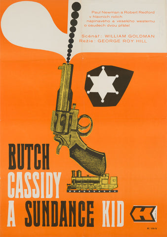 Butch Cassidy and the Sundance Kid 1970 A1 original Czech film poster