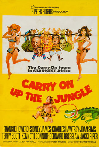 Carry On Up The Jungle original vintage US 1 sheet film movie poster