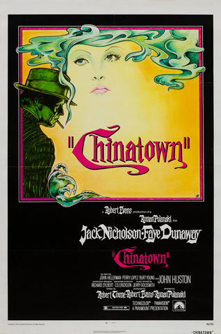 Chinatown 1974 original vintage US 1 sheet film movie poster linen-backed