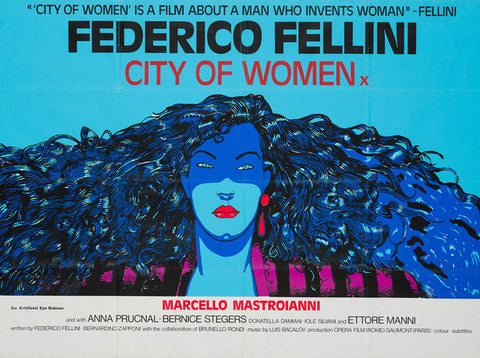 City of Women (La Citta' Delle Donne) original quad film movie poster