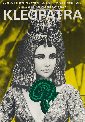 Cleopatra 1966 original Czech film movie poster