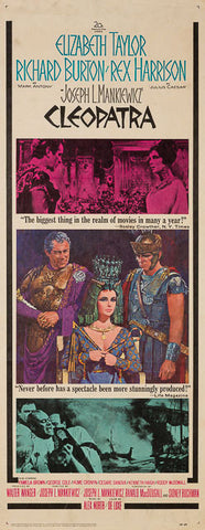 Cleopatra 1964 original vintage US insert film movie poster