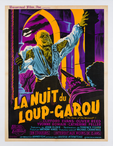 The Curse of the Werewolf 1961 French Moyenne original film movie poster