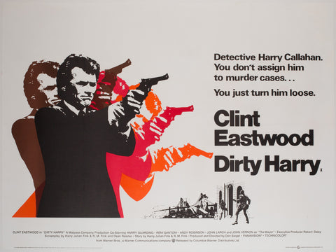 Dirty Harry 1971 UK Quad Film Poster