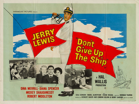Don't Give Up The Ship 1959 original vintage UK quad film movie poster - Jerry Lewis