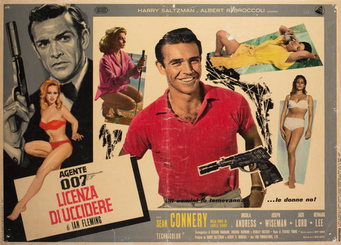 Dr No. 1963 Italian Photobusta Film Poster