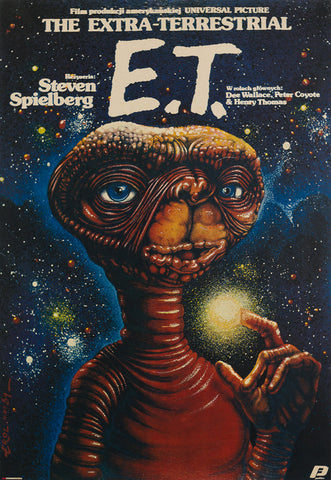 ET 1984 Original Polish film movie poster
