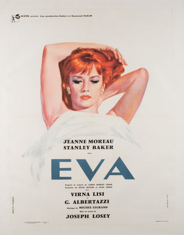 Eva 1962 French Moyenne Film Poster