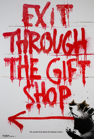 Exit Through The Gift Shop 2010 US 1 Sheet Film Poster, Banksy