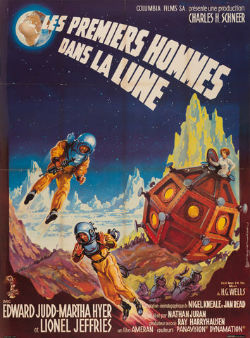 First Men in the Moon 1964 French Grande Film Poster, Soubie