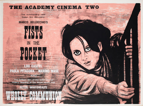 Fists in the Pocket 1966 Academy Cinema UK Quad Film Poster, Strausfeld