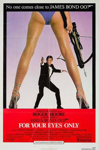 For Your Eyes Only 1981 original vintage US 1 sheet James Bond film movie poster
