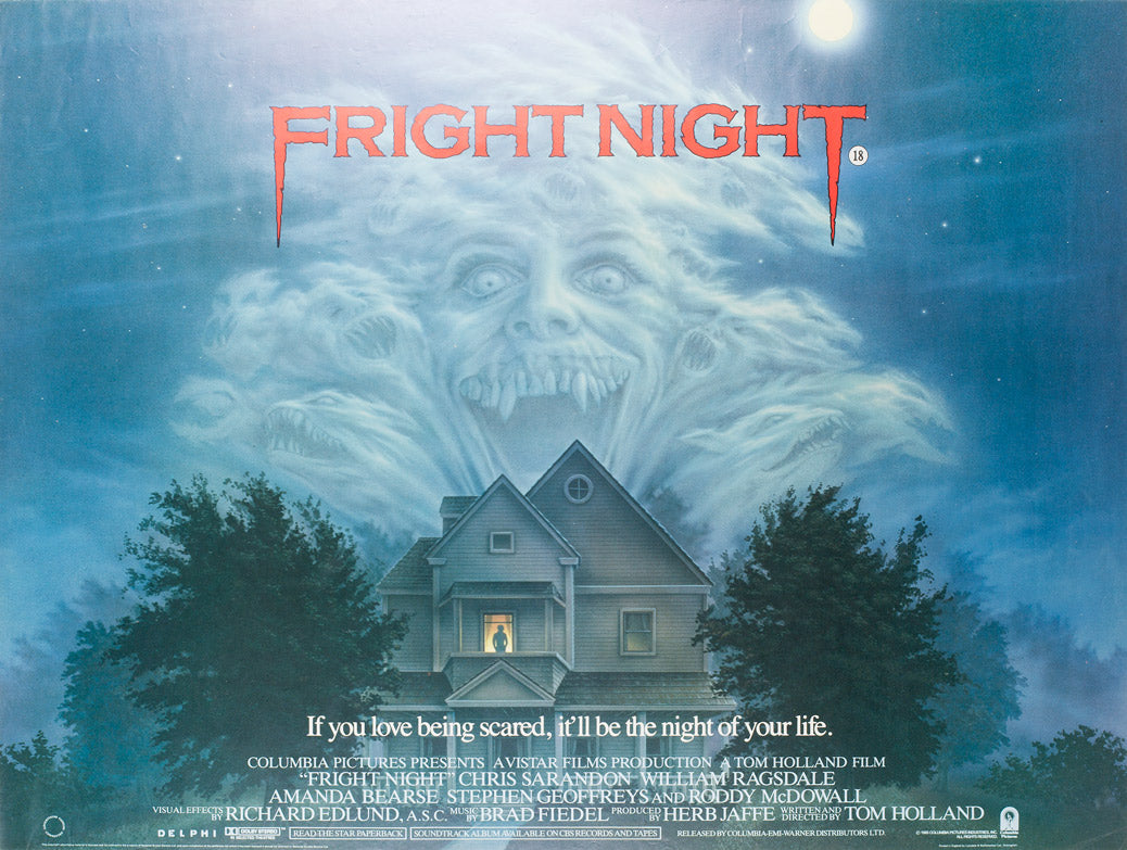 Fright Night 1985 UK Quad Film Poster, Mueller - Orson & Welles