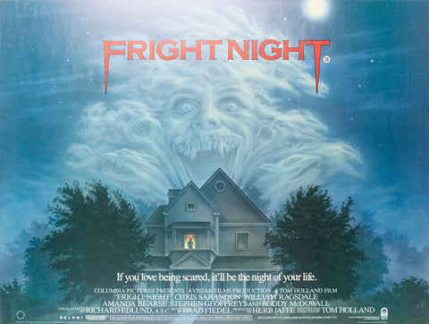 Fright Night 1985 British Quad Film Poster