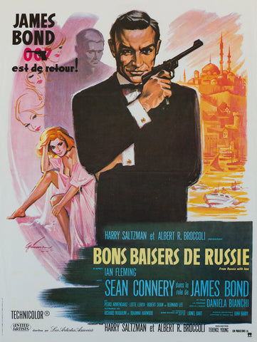 From Russia With Love R70s French Petite film movie poster