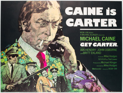Get Carter 1971 UK Quad Film Poster, Putzu