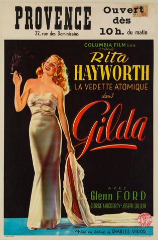 Gilda 1946 Belgian original film movie poster