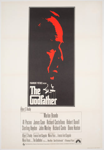The Godfather 1972 UK 1 Sheet Film Poster, Fujita