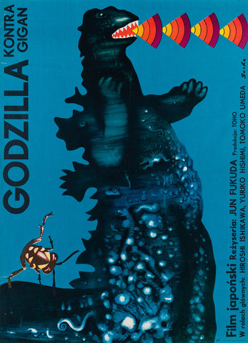 Godzilla vs Gigan 1977 original Polish film movie poster