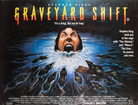 Graveyard Shift 1990 UK Quad - Signed by Vic Fair