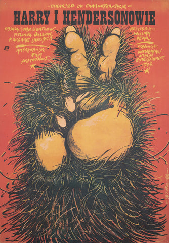 Harry and the Hendersons 1988 Polish B1 Film Poster, Erol