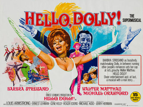 Hello, Dolly! 1969 UK Quad Film Poster