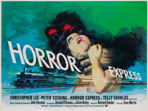 Horror Express 1972 UK Quad original film movie poster